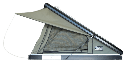 Clamshell Roof Top Tent Black Series -Open Side View