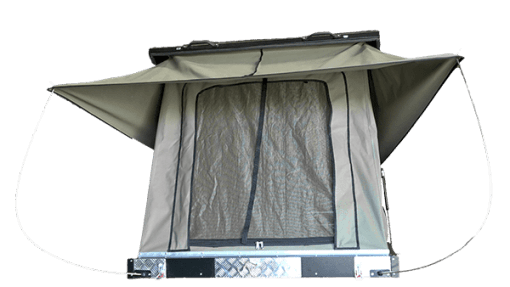 Clamshell Roof Top Tent Black Series -Open Front View