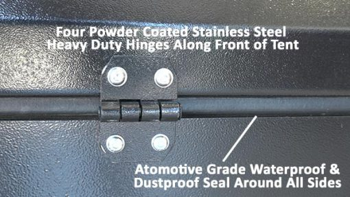 Front hinges and automotive dust seal