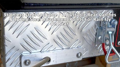 Spring Steel Attachment Points & Lockable Adjustable Catches