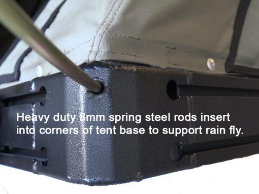 Clamshell Roof Top Tent - ALPHA - spring steel attachment point