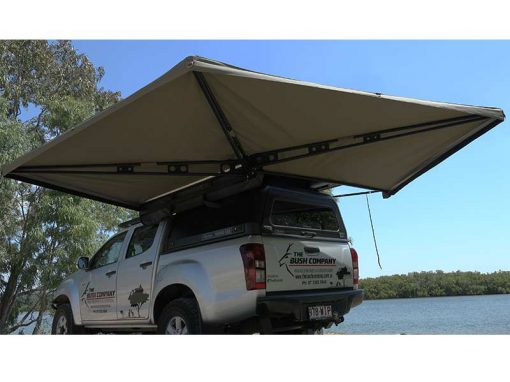 270 XT Awning - open rear corner view 2