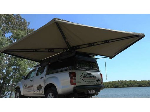 270 XT Awning - open rear up view